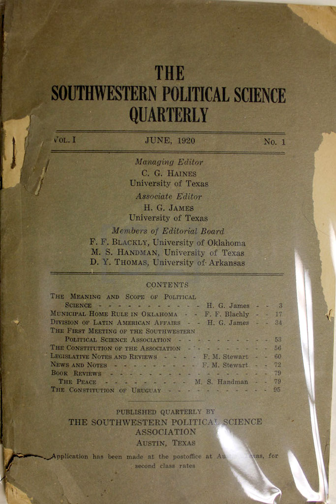 Southwestern Political Science Quarterly