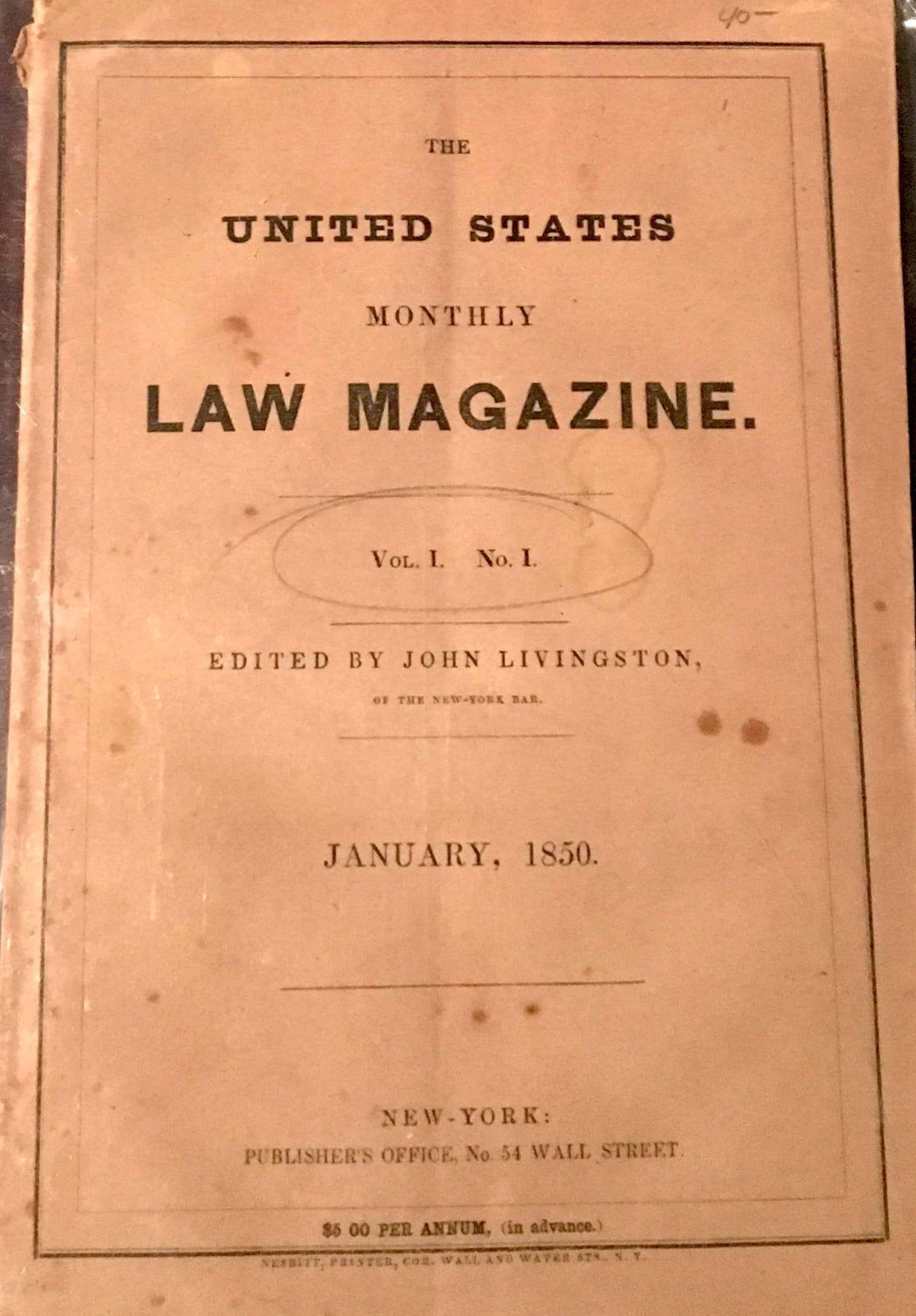United States Monthly Law Magazine