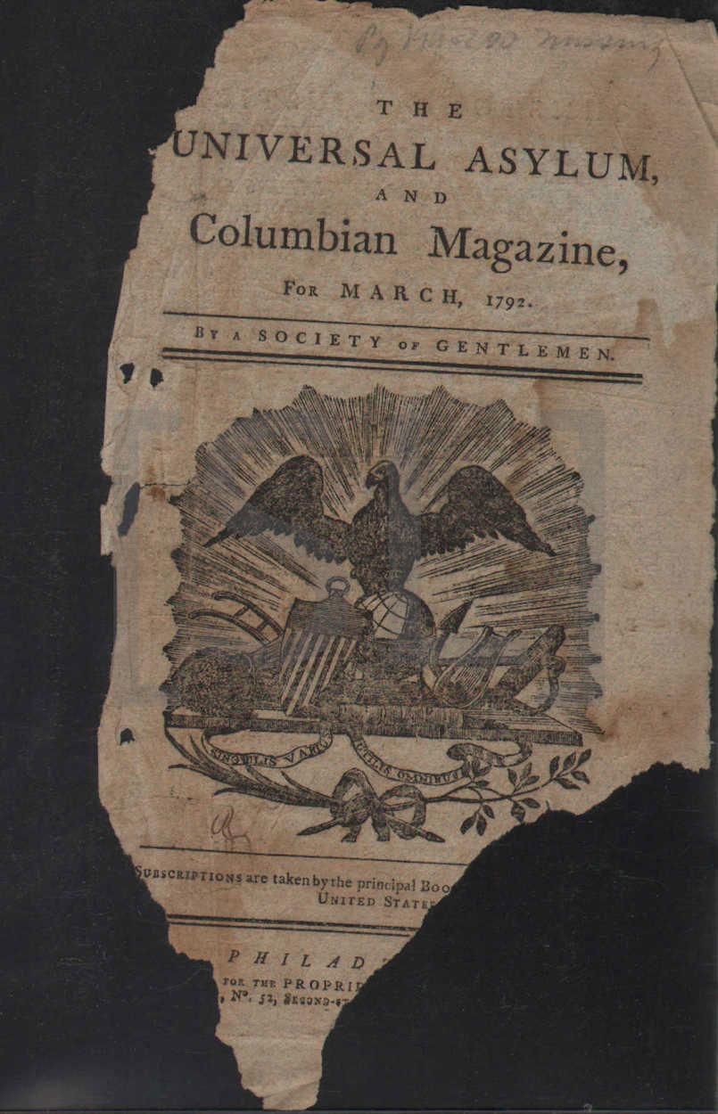 Universal Asylum and Columbian Magazine