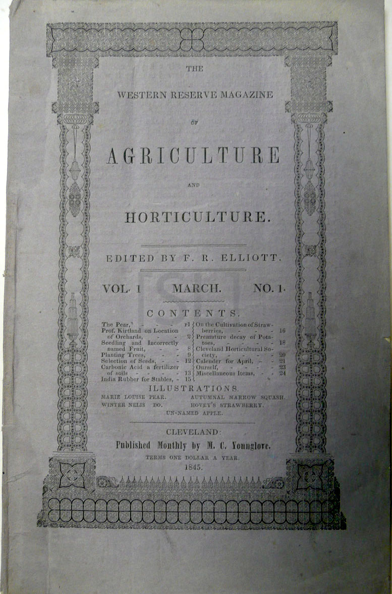 Western Reserve Magazine of Agriculture and Horticulture.