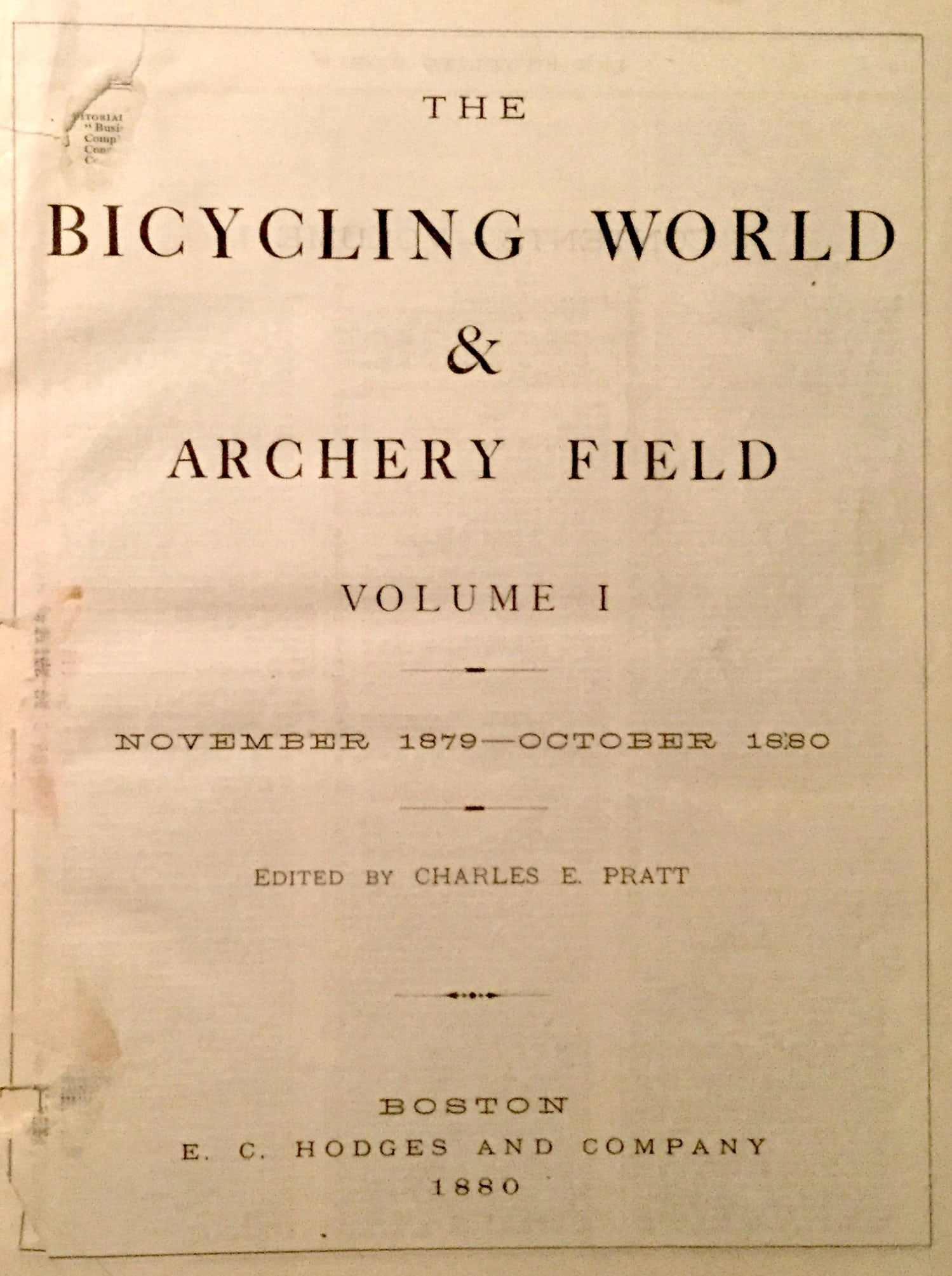 Bicycling World and Archery Field