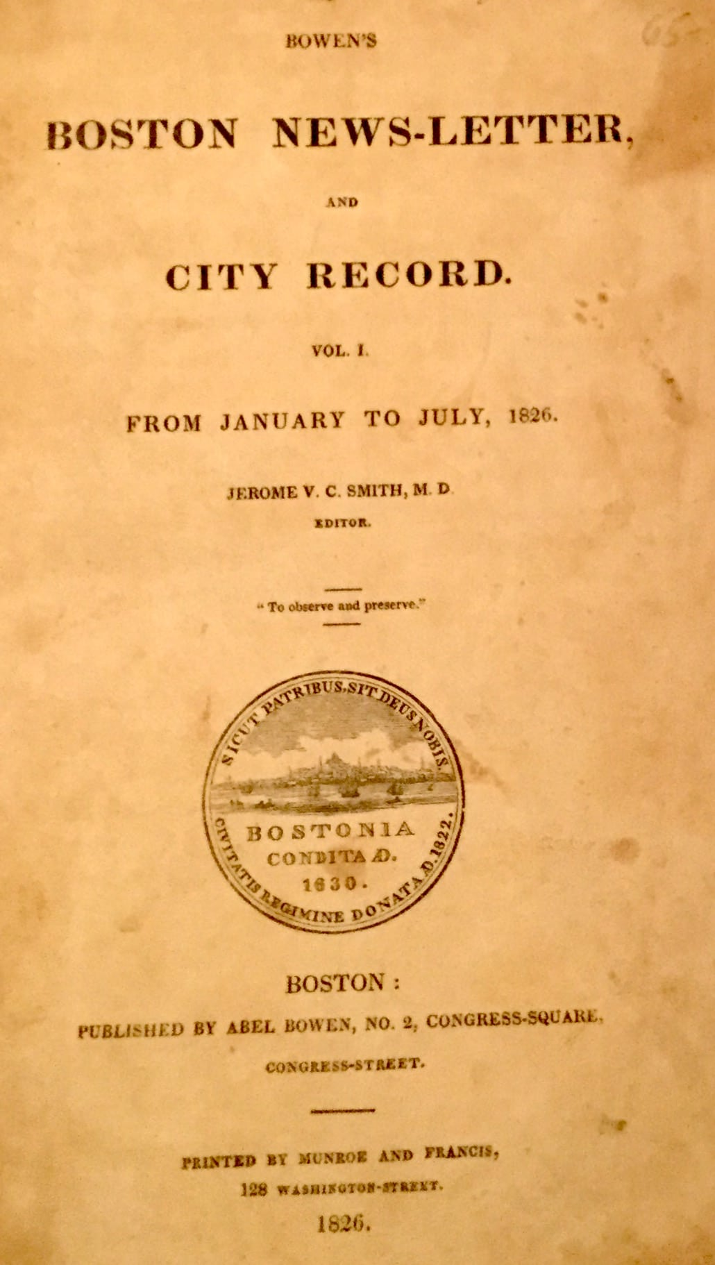 Bowen's Boston News-Letter and City Record
