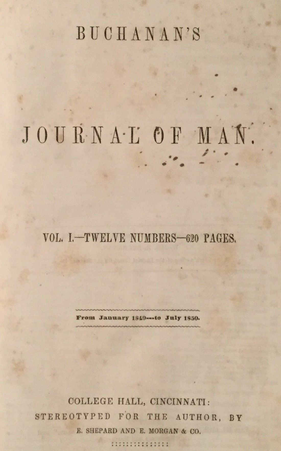 Buchanan's Journal of Man