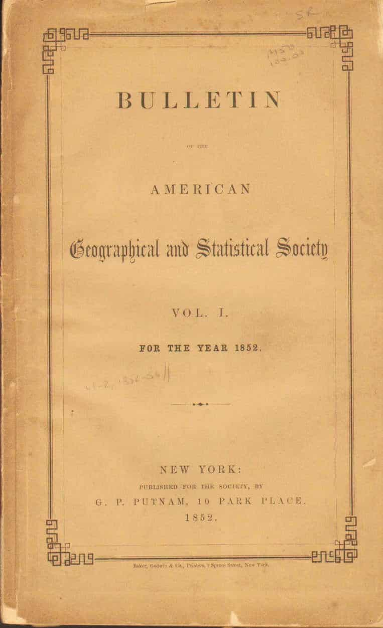 Bulletin of the American Geographical and Standard Society