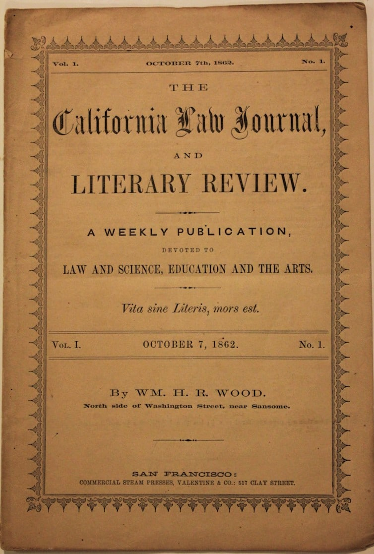 California Law Journal and Literary Review