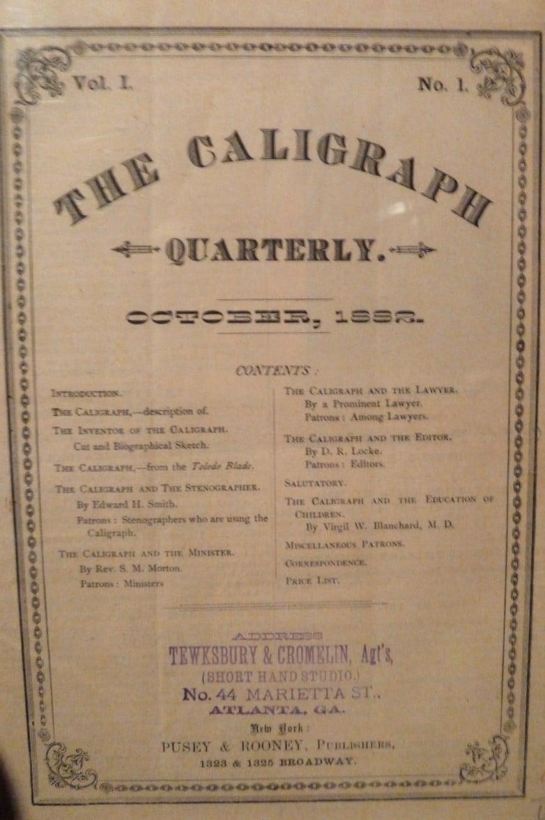 Caligraph Quarterly