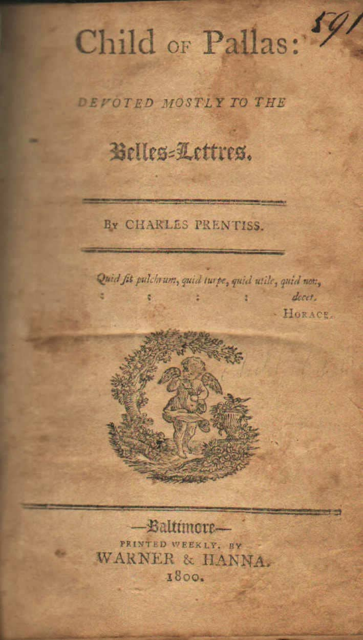 Child of Pallas: Devoted Mostly to Belles-Lettres