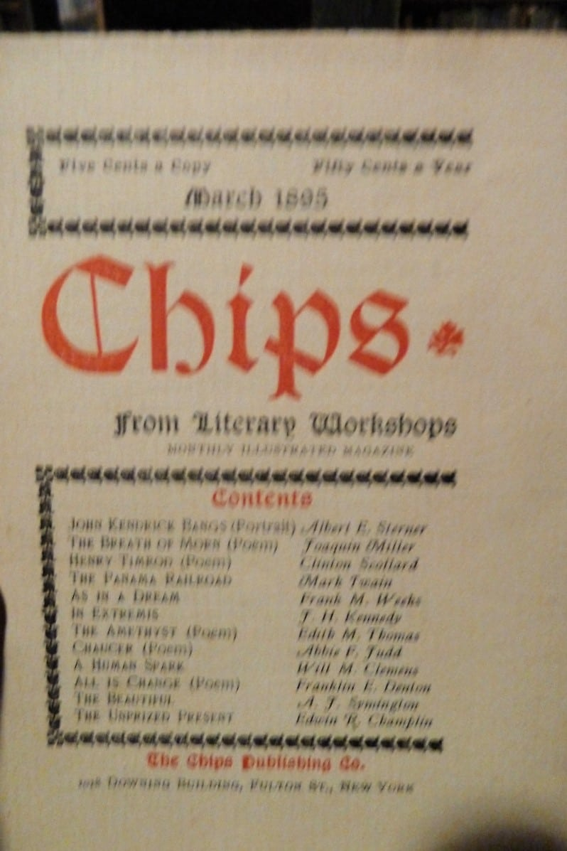 Chips From Literary Workshops. Monthly Illustrated Magazine