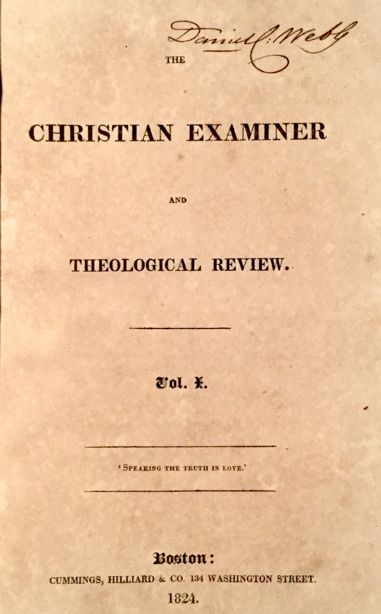Christian Examiner and Theological Review