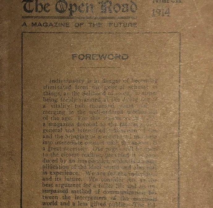 Open Road – A Magazine of the Future