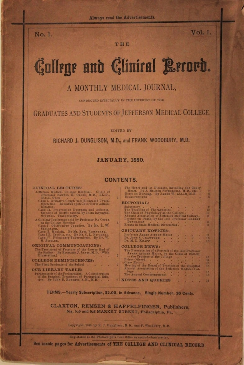 College and Clinical Record
