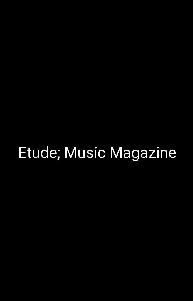 Etude; Music Magazine