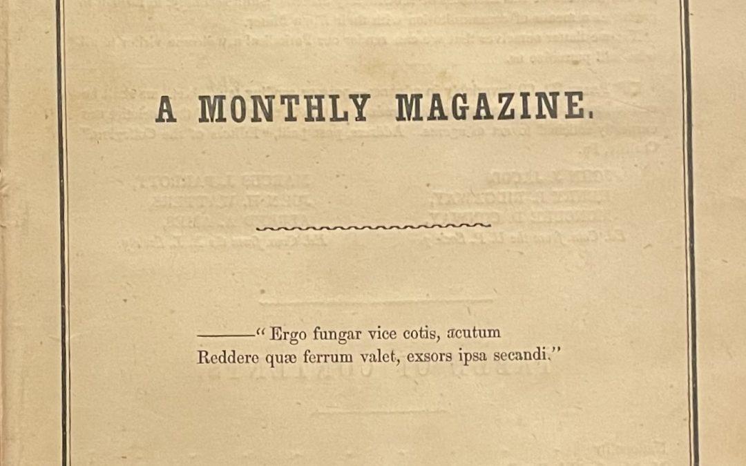 Collegian: A Monthly Magazine
