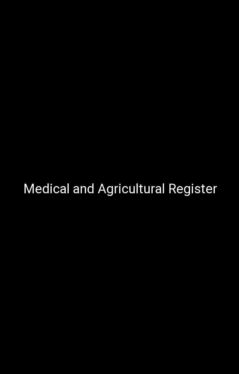 Medical and Agricultural Register