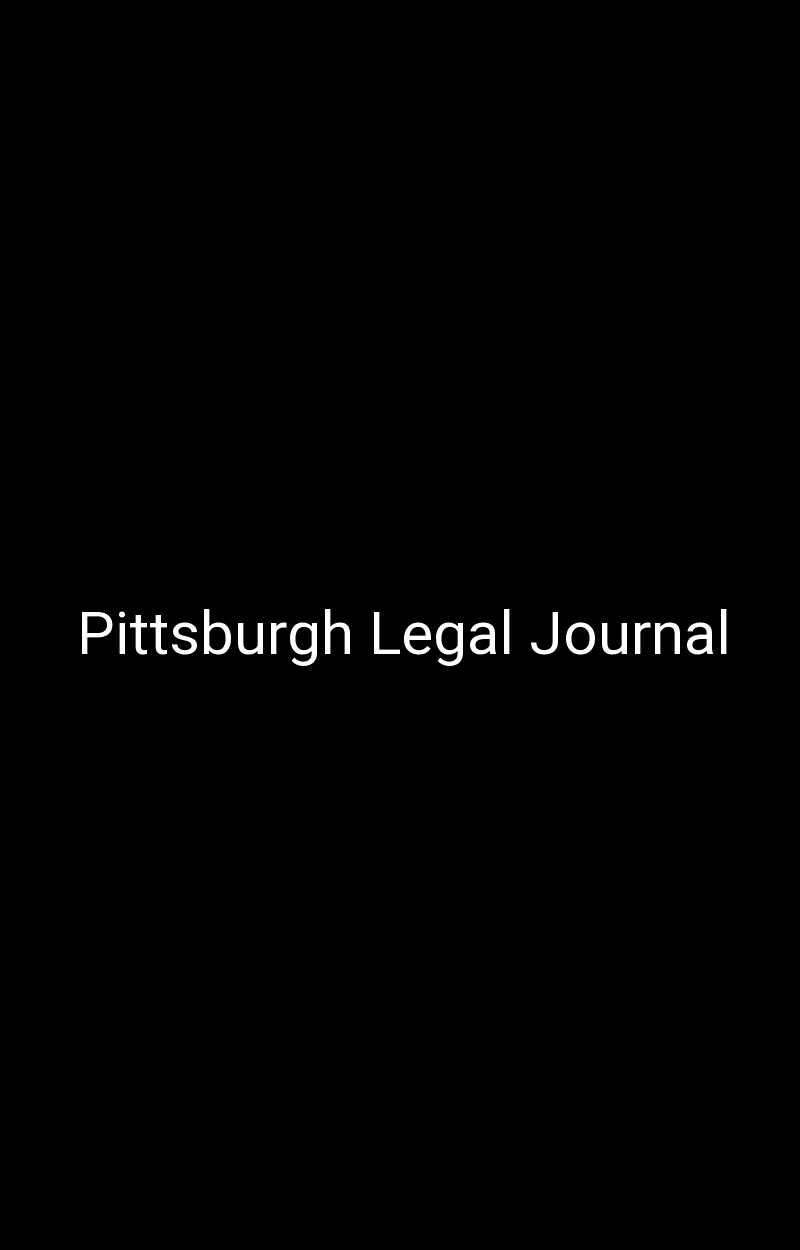 Pittsburgh Legal Journal
