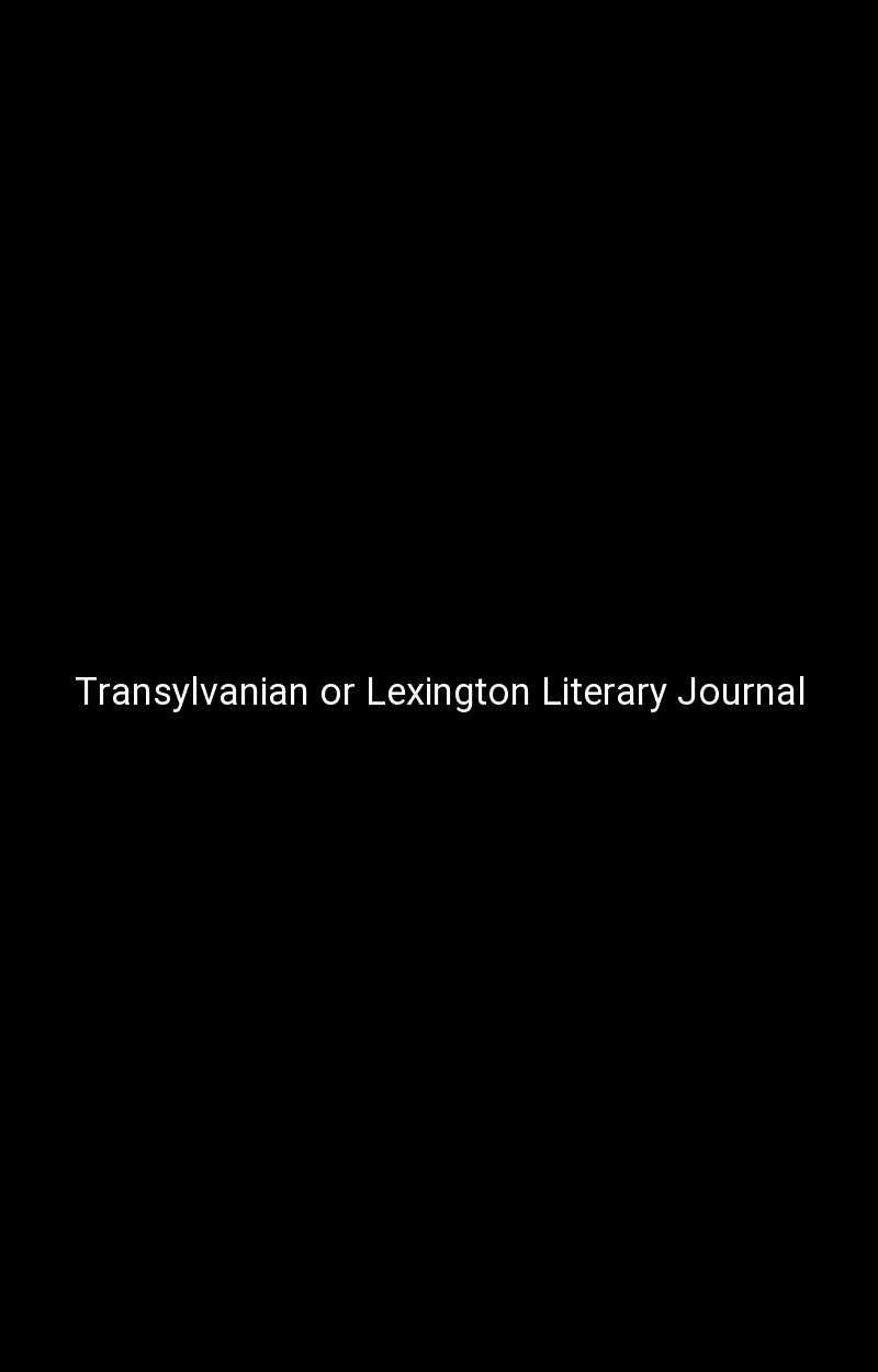Transylvanian or Lexington Literary Journal