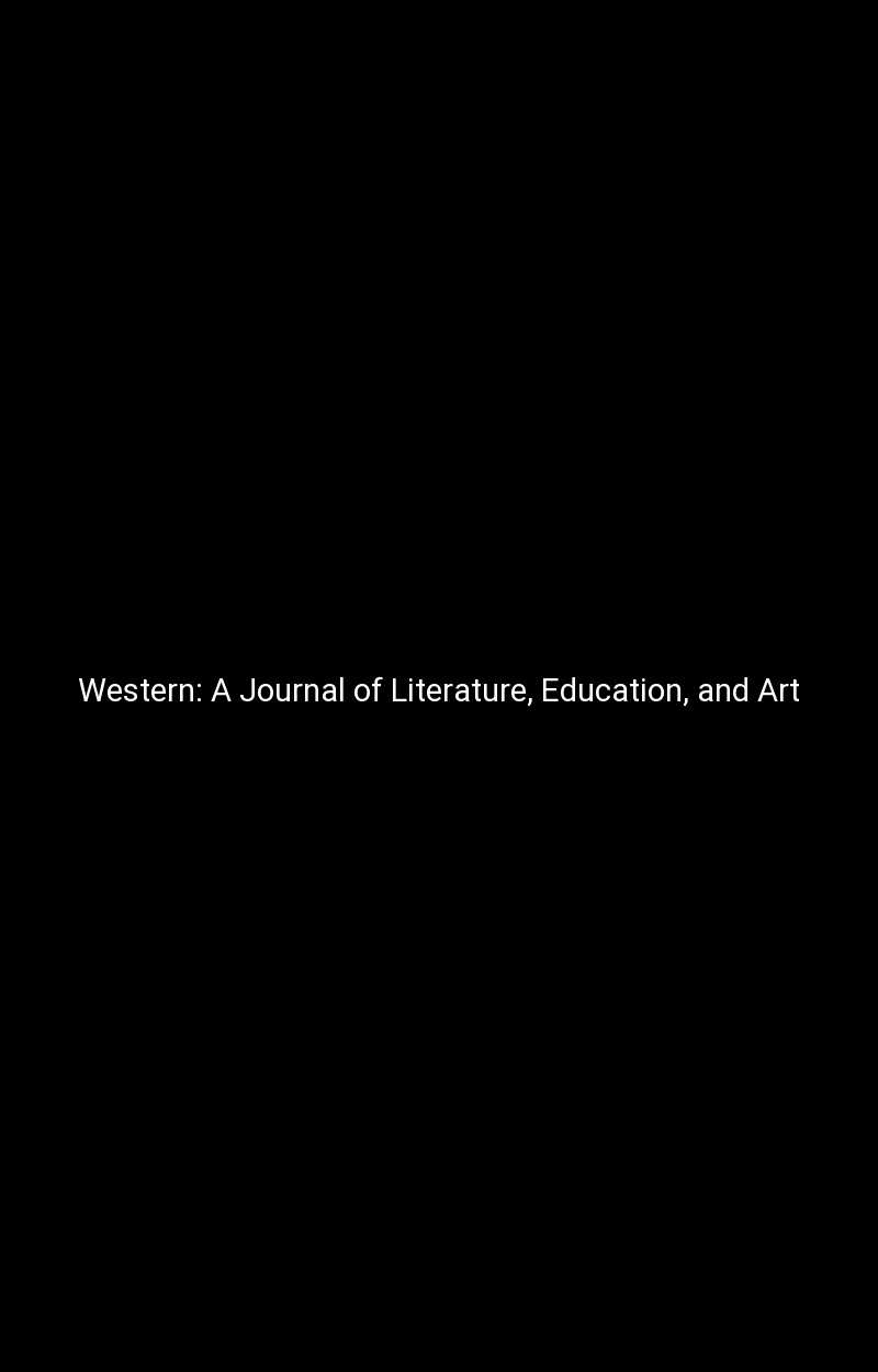 Western: A Journal of Literature, Education, and Art