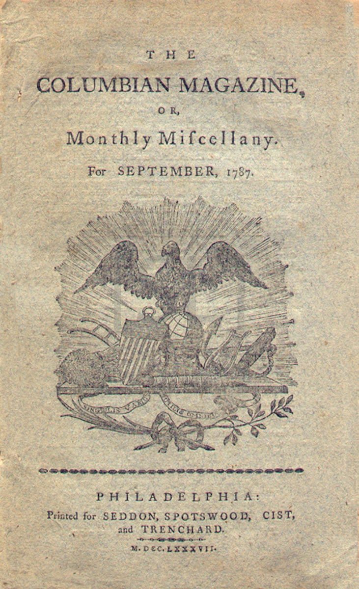 Columbian Monthly Magazine, or Monthly Miscellany